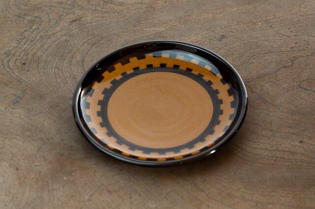 飴釉五寸皿(GEAR)の画像1枚目