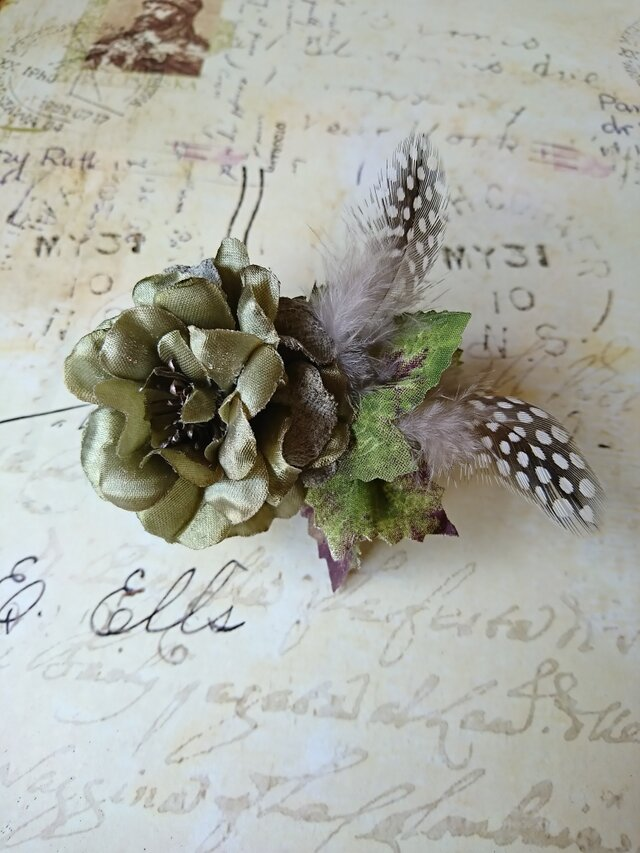 green rose corsage Ⅰの画像1枚目