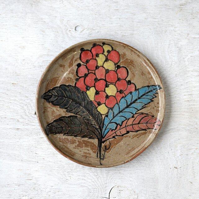 草花模様の盆皿の画像1枚目