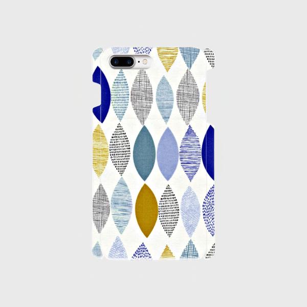 北欧デザイン ボタニカルリーフ ② iphone 6plus/7plus/8plus 専用ハードケースの画像1枚目