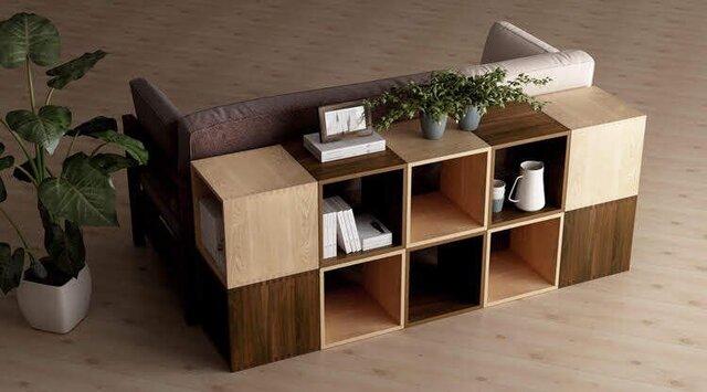 受注生産 職人手作り シンプルな収納棚 シェルフ 北欧 ナチュラル モダンデザイン 収納家具 木工 天然木 木目 家具の画像1枚目