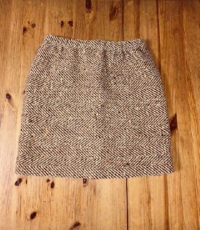 ウールのタイトスカート 茶色の画像1枚目