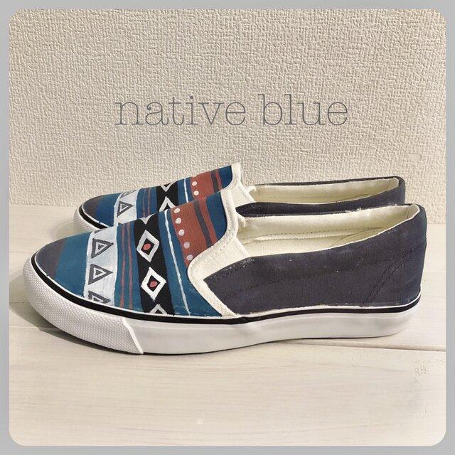ペイントスリッポン 「native blue」の画像1枚目