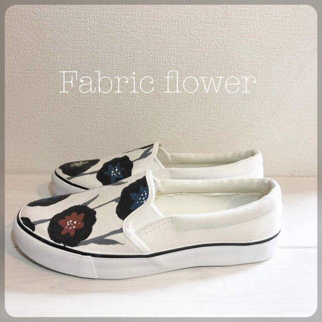 ペイントスリッポン 「fabric flower」の画像1枚目