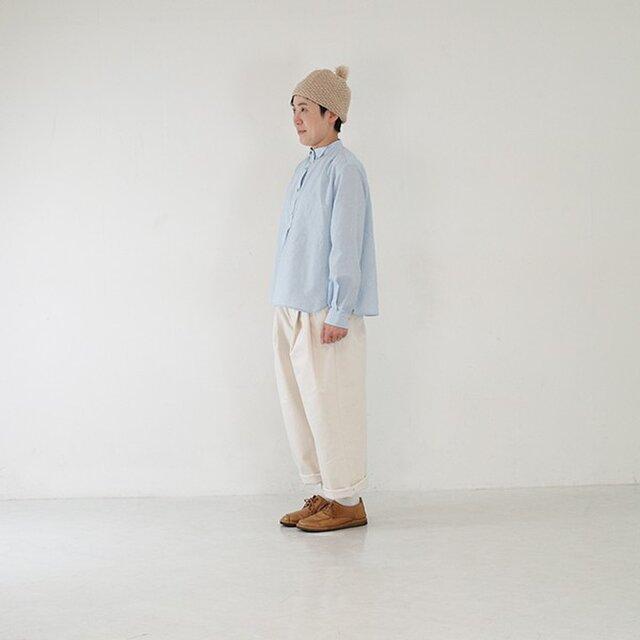 さらりと軽い-コットンシャツ light blueの画像1枚目