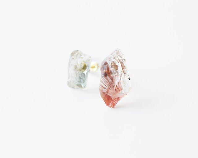 原石ピアス/オレゴンサンストーンの画像1枚目