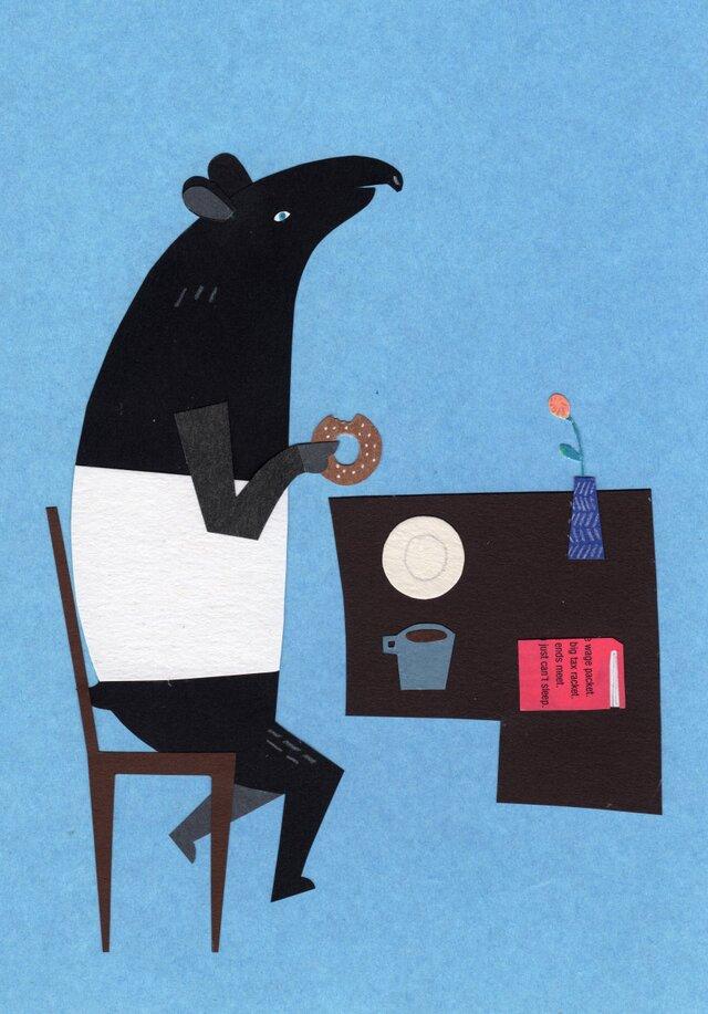 「ドーナツ、大好き」ポストカード 2枚セットの画像1枚目