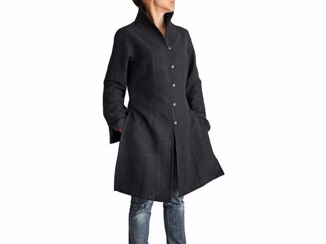 ジョムトン手織り綿オリエンタルコート 黒(JFS-015-01)の画像1枚目