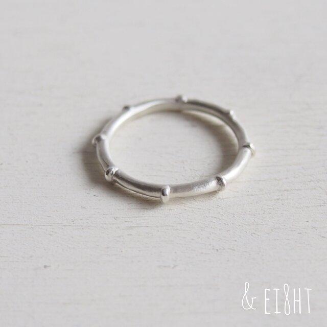 【受注制作】- Silver - Bamboo Ringの画像1枚目