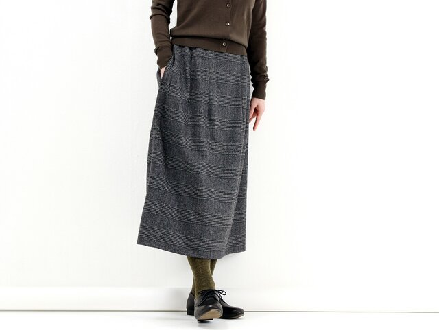 ギャザースカート(グレンチェック)#215の画像1枚目