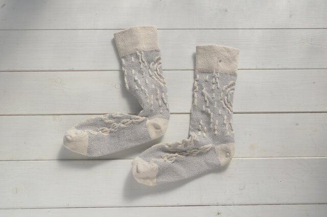絹の靴下 snow forestの画像1枚目