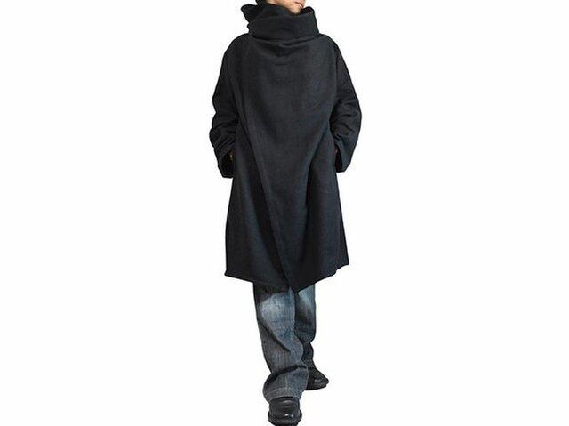 ジョムトン手織り綿コサックコート 黒 Mサイズ(JFS-145-01M)の画像1枚目