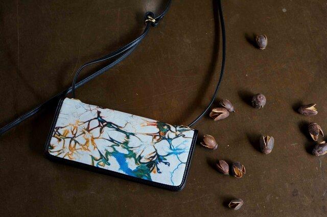 絞り染めLEATHERお財布bag-#multi-color《送料無料》の画像1枚目