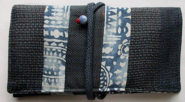 送料無料 大島紬を組み合わせた和風財布・ポーチ 3857の画像1枚目