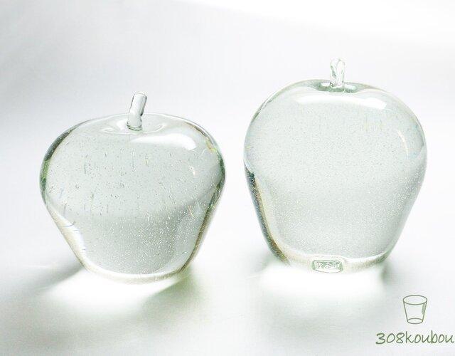 【再販】透明リンゴのオブジェ 大の画像1枚目