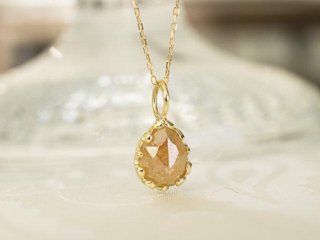 ハニーオレンジダイヤモンドペンダント(No.1143)の画像1枚目