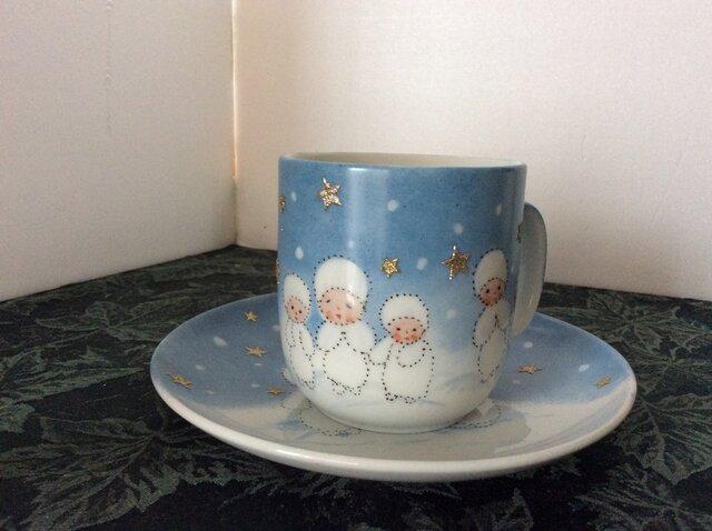 スノーフラックチルドレンのマグカップとケーキ皿の画像1枚目