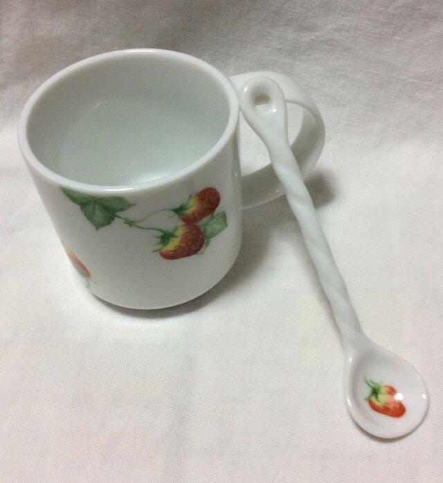 『SET』いちごのマグカップ&ティスプーンの画像1枚目
