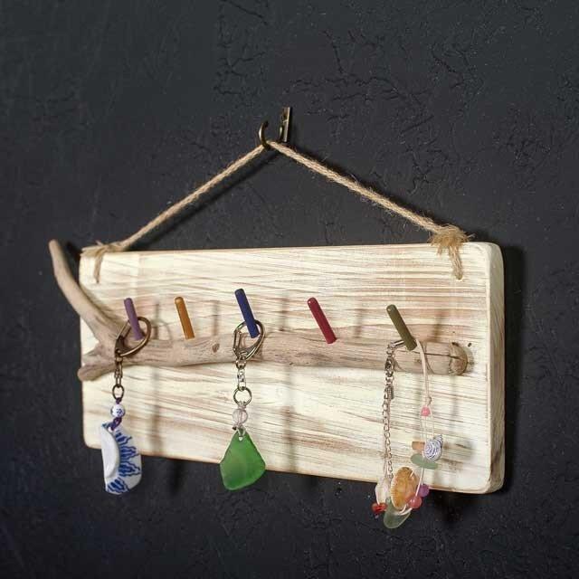 【送料無料】流木の小物掛け、アクセサリーハンガー33の画像1枚目