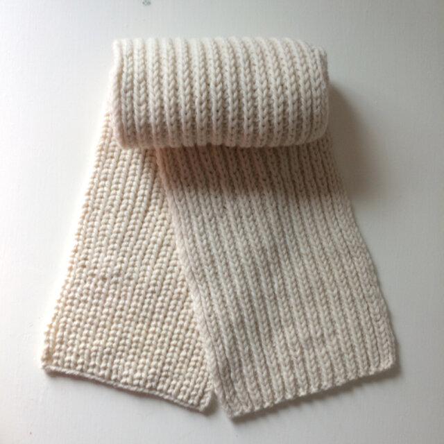 *イギリスゴム編みマフラーの画像1枚目