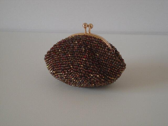 Beaded Purse --Bitter Chocolate--の画像1枚目