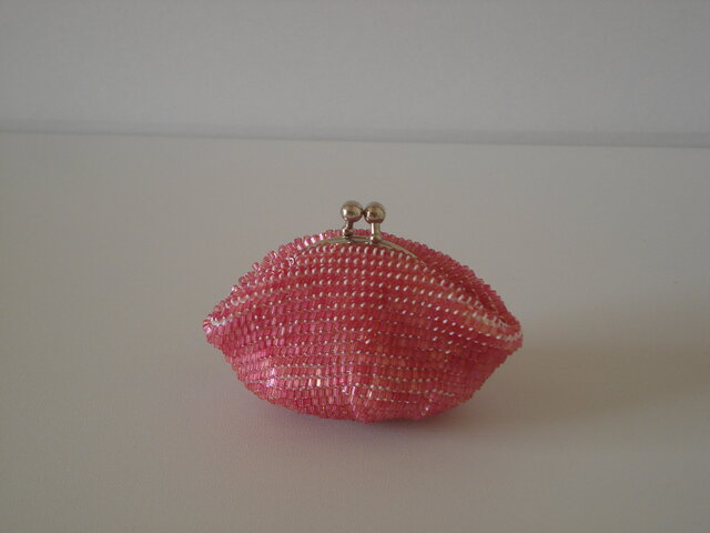 Beaded Purse --Plum--の画像1枚目
