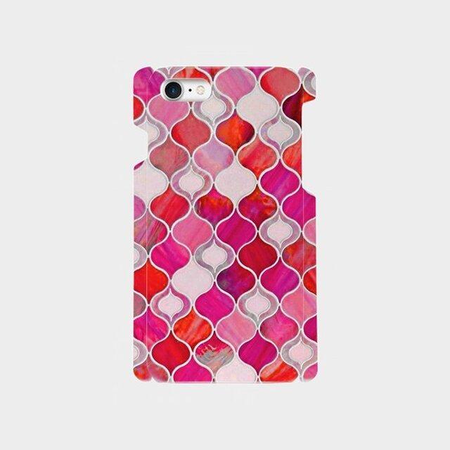 グラスタイル アラベスクパターン(ホリデーレッド) iphone 5/5s/6/6s/SE/7/8/X/XS ハードケースの画像1枚目