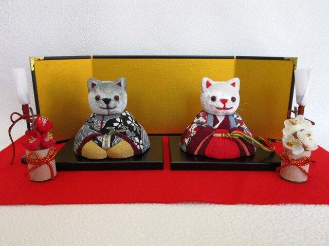 猫雛 親王セットの画像1枚目