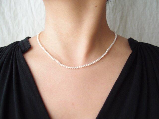 送料無料【受注制作】【k14gf】パールネックレス … baby pearl・whiteの画像1枚目