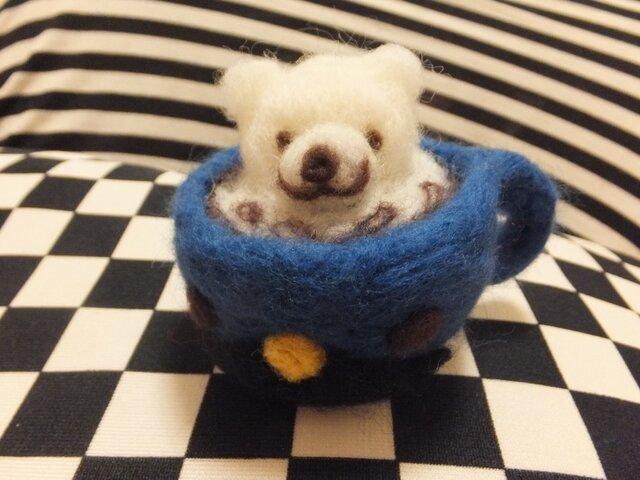 3DラテアートBear♪ ** 羊毛フェルト **の画像1枚目
