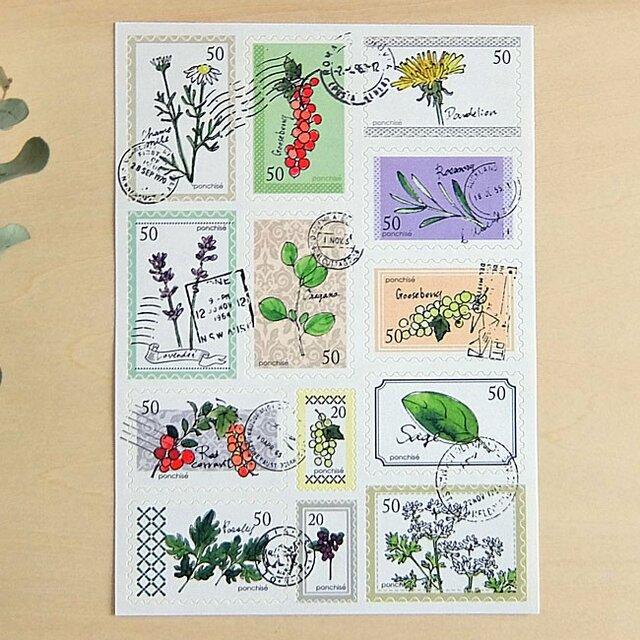 切手シール ハーブの画像1枚目