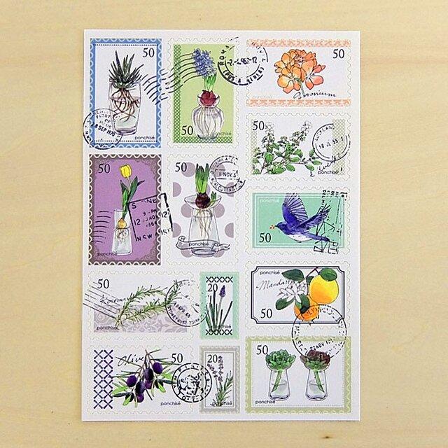 切手シール 水栽培の画像1枚目