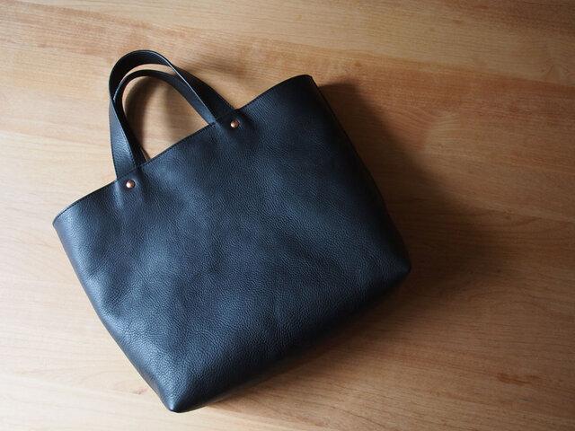 tote bag small navy - トートバッグ小(ネイビー)の画像1枚目
