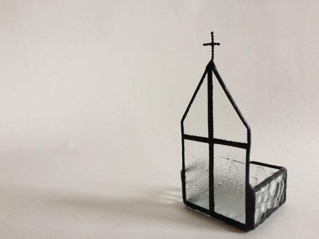 ステンドグラス 教会ジュエリートレイの画像1枚目