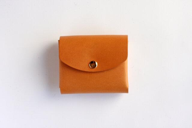 イングラサット_タン◆外装◆こども財布◆三つ折りの画像1枚目