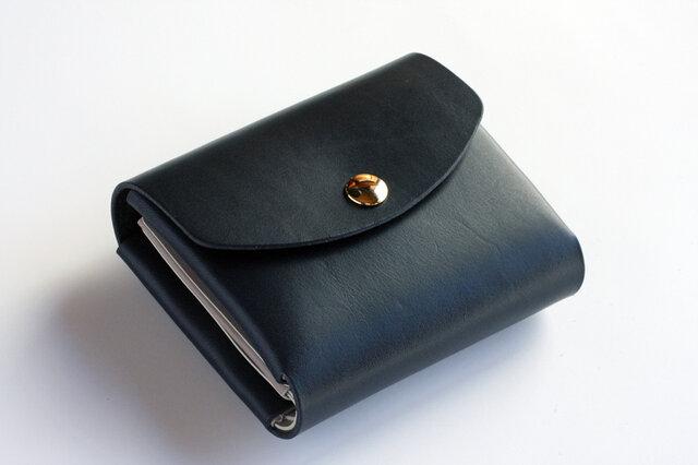 イングラサット_ネイビー◆外装◆こども財布◆三つ折りの画像1枚目