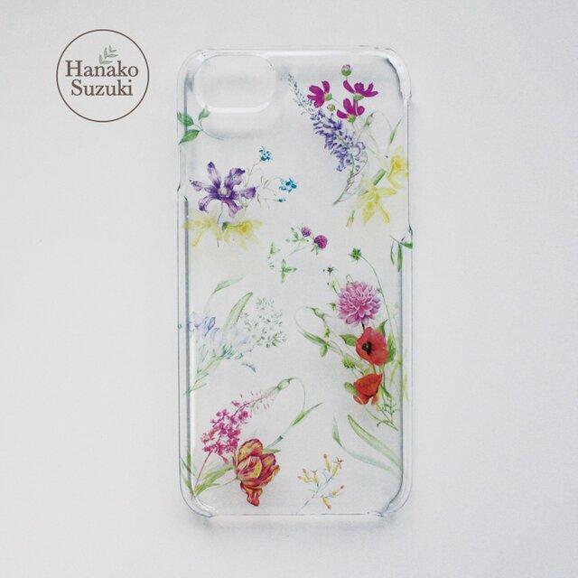 68ecc2450b ボタニカルな花柄デザイン iPhoneケース(クリア) [iphone6/6S/7/8対応] ボタニカルフラワー
