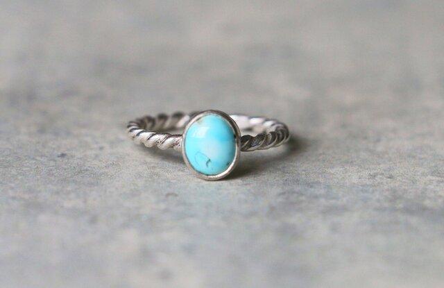 天然石*ペルシアントルコ石 指輪*11.5号 SVの画像1枚目