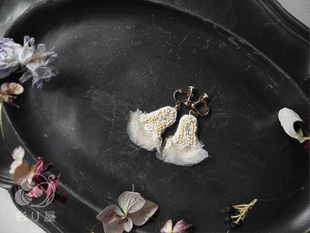耳飾り【鈴の花】_ミルクの画像1枚目