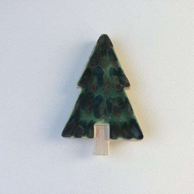 壁掛け陶板 「小さなツリー①」の画像1枚目
