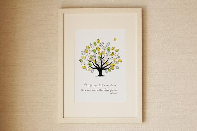 爽やかな木のポスター♪ グリーン 北欧の画像1枚目