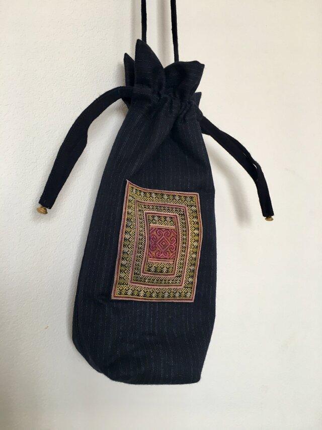 ベトナム ザオ族刺繍 ポシェットの画像1枚目