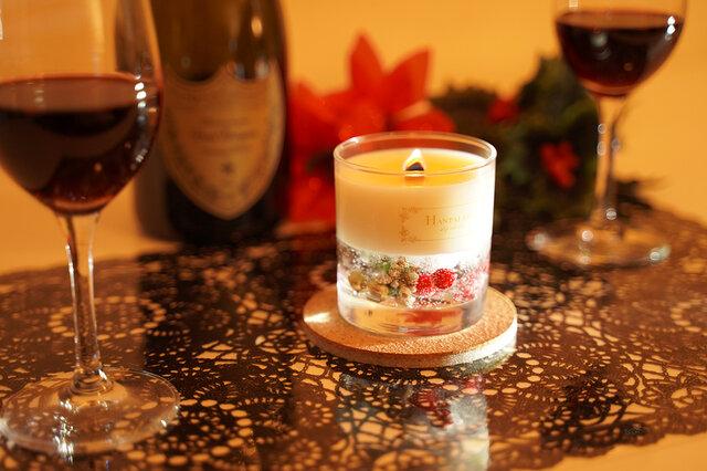 クリスマスセール開催中!ソイ&ジェル2層アロマキャンドル ~各種お祝い・クリスマスプレゼント・スノウキャンドル♪の画像1枚目