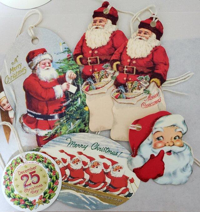 ITALY xmas tag 6枚Set クリスマスの画像1枚目