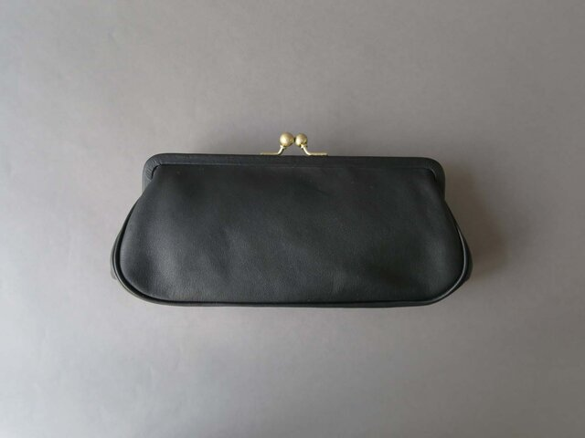 plain gama long wallet (black)の画像1枚目