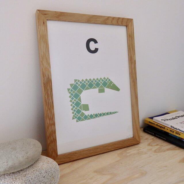 C for Crocodile A4サイズポスターの画像1枚目