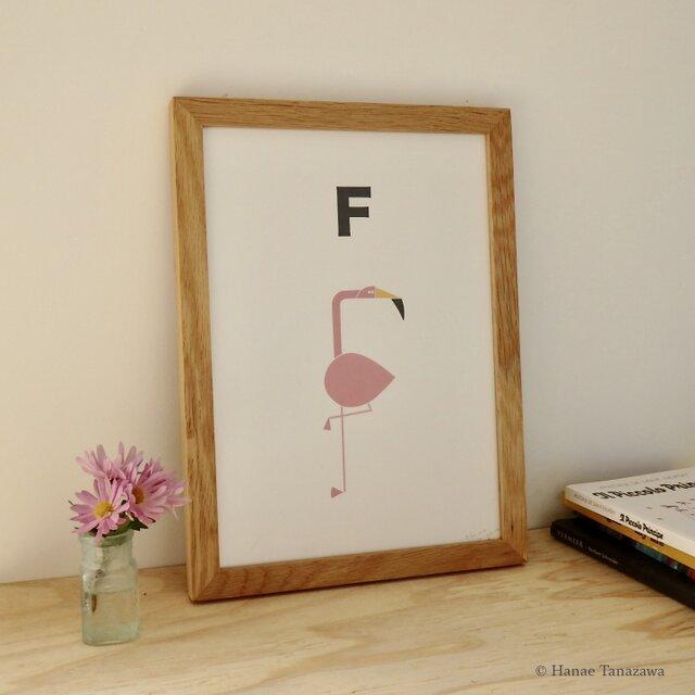 F for Flamingo A4サイズポスターの画像1枚目