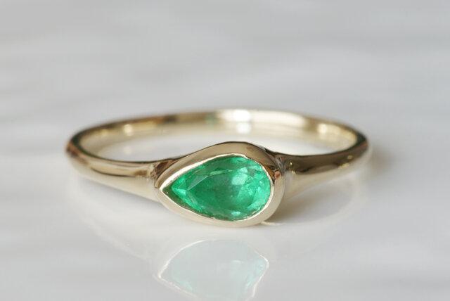 K10製 エメラルドのリングの画像1枚目