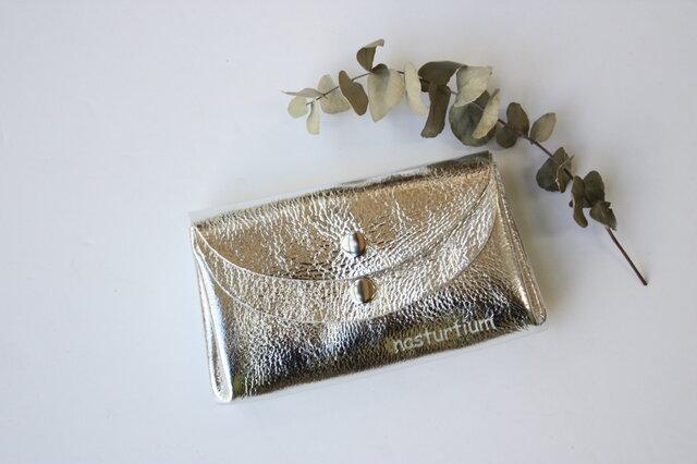 【新色・シルバー】ピッグスキンの小さなお財布 の画像1枚目