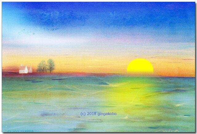 「安息時間」 ほっこり癒しのイラストポストカード2枚組No.662の画像1枚目